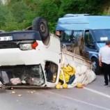İftara 20 Dakika Kala Kamyonet Takla Attı, 1 Yaralı, (Videolu Haber)..