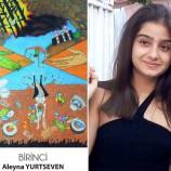 Durağanlı Aleyna Yurtseven Resim Yarışmasında Türkiye 1. Oldu…