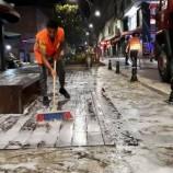 Sinop'ta Caddeler Sabunla Yıkanıyor…