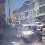 CHP İlçe Başkan Yardımcısının Otomobili Alev Aldı…