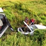 Otomobil Tarlaya Uçtu, Hava Yastığı 3 Can kurtardı…