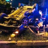 İki Otomobil Kafa Kafaya Çarpıştı, Feci Kazada 1 Ağır Yaralı….