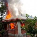 Köyde Çıkan Yangında Bir Ev Kullanılmaz Hale Geldi…