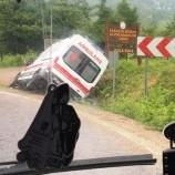 Gece 04.00 de Ambulans Kaza Yaptı…