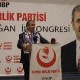 BBP Sinop 1. İl Kongresi Yapıldı…