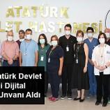 Sinop Atatürk Devlet Hastanesi Dijital Hastane Unvanı Aldı…
