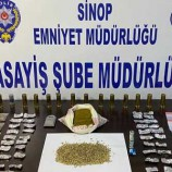Sinop'ta polisten narkotik operasyonu…