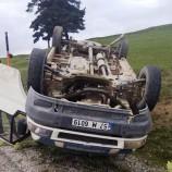Köy Yolunda Otomobil Takla Attı, 1 Yaralı…