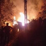 Köyde Gece Yarısı Korkutan Yangın, Alevler Her Yanı Bir Anda Sardı, Tek Katlı Ev Kül Oldu…