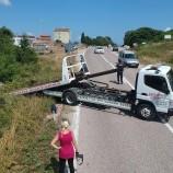 Otomobil Şarampole Yuvarlandı: 1 Yaralı…