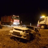 Gece Yarısı Feci Trafik Kazası, 4 Yaralı…