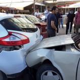 Boyabat Köprü Başında Zincirleme Trafik Kazası, 4 Araç Biri Birine Girdi, Cana Değil Mala Geldi…