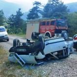 Otomobil Dereye Yuvarlandı, 3 Çocuk 5 Kişi Yaralı…