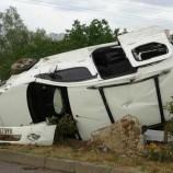 Sinop'a gelirken kaza yaptılar : 5 yaralı…