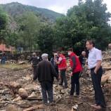 Boyabat Uzunçay Köyünde Sel Sonrası , Yaralar Sarılmaya Başlandı…