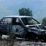 Köy Muhtarının Arabası Alev Alev Yandı…