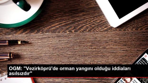 """OGM: """"Vezirköprü'de orman yangını olduğu iddiaları asılsızdır""""…"""