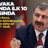 Bakan Koça ; Sinop Vaka artışında ilk 10 il arasında…