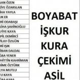 Boyabat'ta 9 Aylık İşkur Kazananların Tam Listesi Açıklandı, İşte Tam Liste…