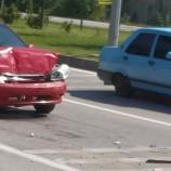 Boyabat Sanayi Kavşağında Trafik Kazası…