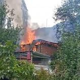 Köyde Korkutan Yangın, Bir Anda Ev Kül Oldu…