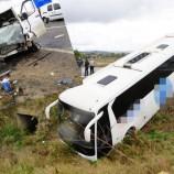 Yolcu Otobüsü İle Minibüs Çarpıştı, 10 Yaralı…