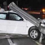 Sinop'ta Korkunç Kaza, Otomobil Bariyerlere Ok Gibi Saplandı…