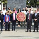 Cumhuriyet Halk Partisi'nin 98. Kuruluş yıldönümü nedeniyle CHP Sinop İl Başkanlığı tarafından tören düzenlendi.