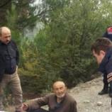84 yaşındaki yaşlı adam ormanda bitkin olarak bulundu…
